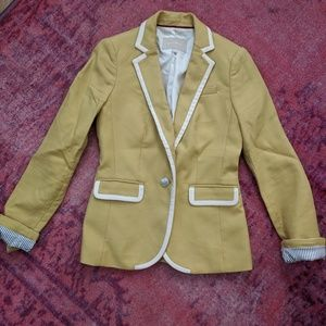 Yellow and Cream Blazer